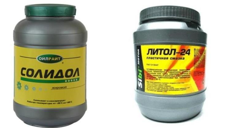 Солидол и литол