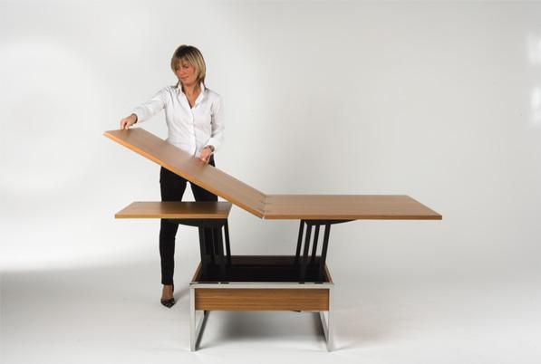 Столы-трансформеры имеют наиболее сложные крепежные элементы