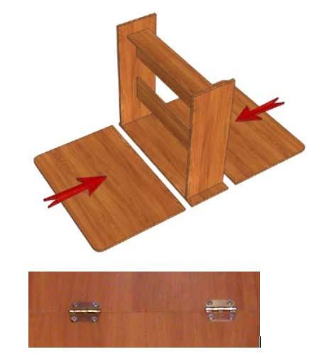 Места расположения крепежа на раскладном столе