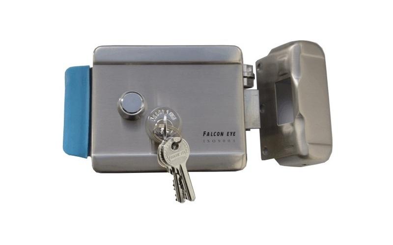 Запирающее устройство, которое можно открыть ключом и электронным сигналом