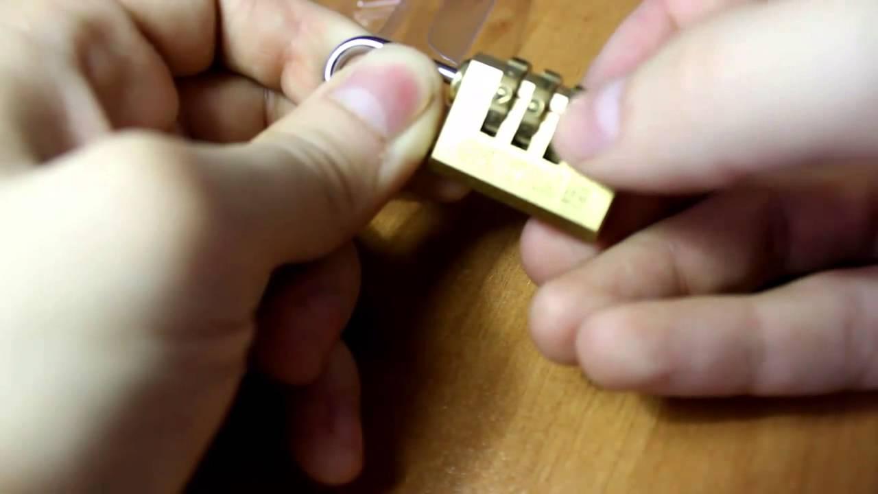 Вскрытие кодового замка навесного типа по звуку