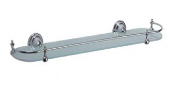 Стеклянные полки используются для хранения сувениров или же в ванных комнатах