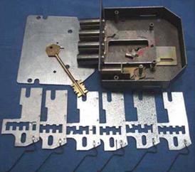 Комплект пластин для перекодировки замка