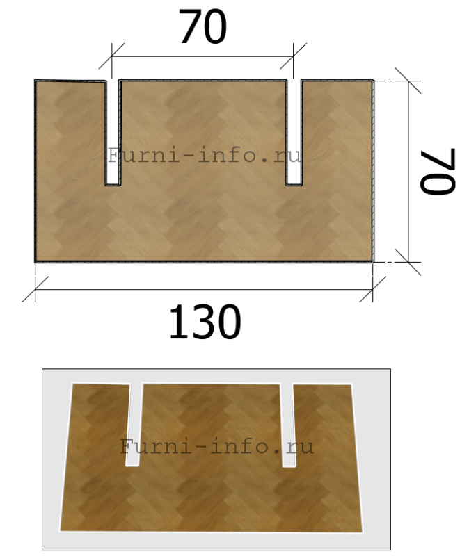 Чертеж боковых накладок (2 шт)
