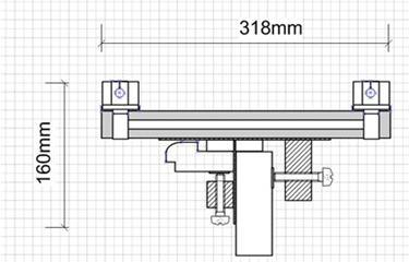 Приблизительный чертеж шаблона, применяемого для установки