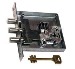 Запорный механизм, в основании секретной части которого располагаются пластины