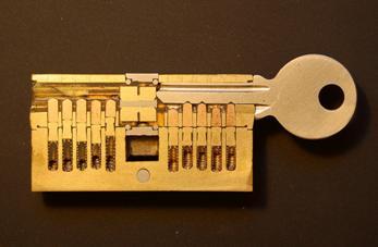 Устройство секретной части цилиндрового механизма