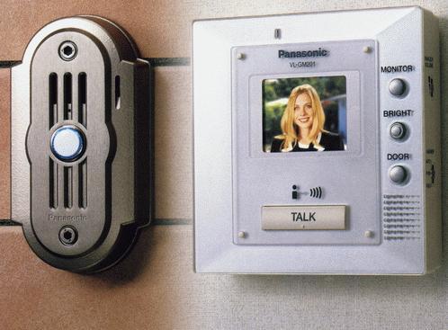 Видеодомофон, управляющий электромагнитным замком, и вызывная панель с камерой