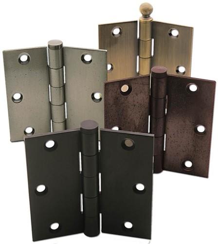 Различные виды дверных петель