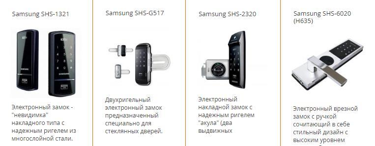 Электронные замки от компании Samsung