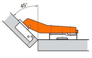Мебельная петля, применяемая в сборке угловых шкафов