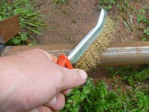 Зачистка металлической поверхности перед сваркой