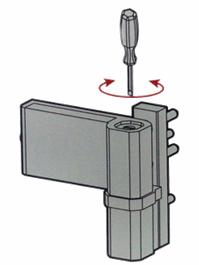 Доводчик петли для алюминиевой двери