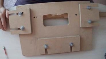 Простейшее устройство для врезки петель, изготовленное самостоятельно