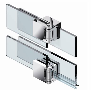 Петли с перекрытием удобны при навесе стеклянных дверок на стеклянное основание
