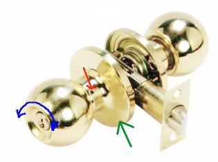 Как разобрать ручку с поворотным механизмом