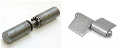 Петли на подшипнике: цилиндрическая обычная (слева) и с усилением (справа)