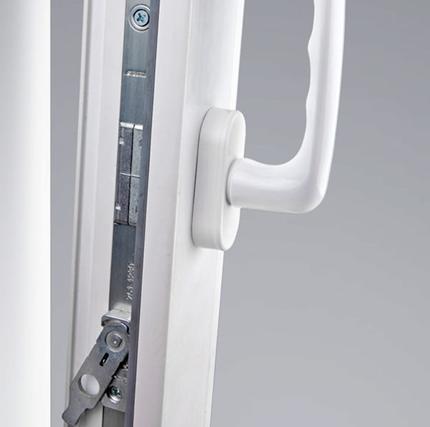 Ручка как часть механизма запирания окна