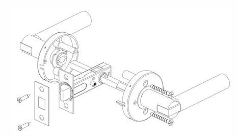 Согласно данной схеме можно наглядно понять принцип установки дверной ручки