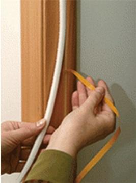 Ликвидация зазора между коробкой и дверным полотном