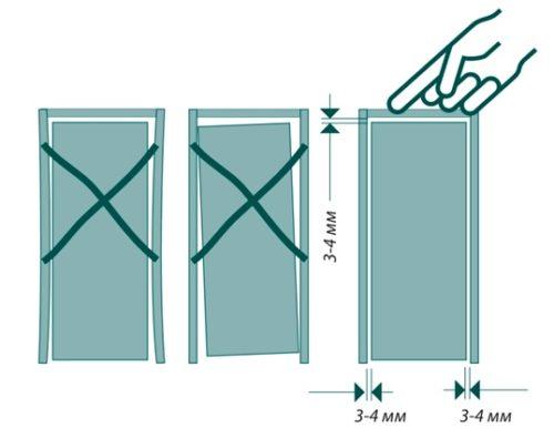 Неправильное положение дверного полотна