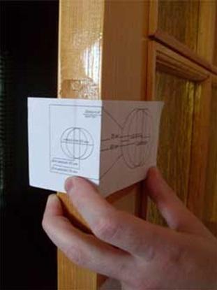 Нанесение разметки на дверное полотно при помощи шаблона