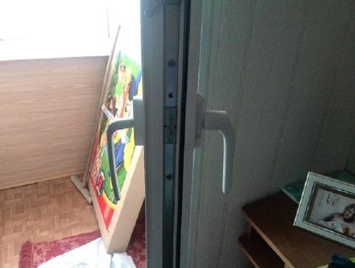 Ассиметричная конструкция для балконных дверей