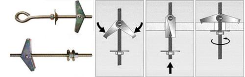 Схема монтажа крюка с фиксирующими пластинами