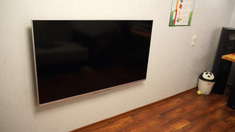 Установка телевизоров на стены
