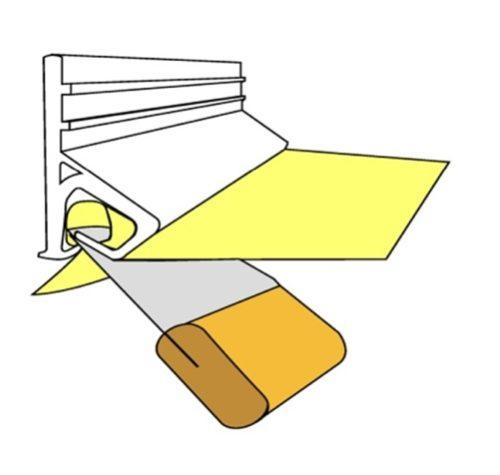 Фиксация потолочного покрытия без дополнительных планок