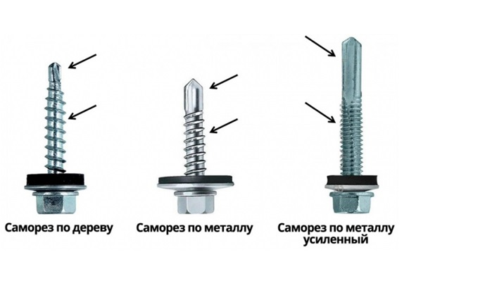 Отличия крепежей для дерева и металла
