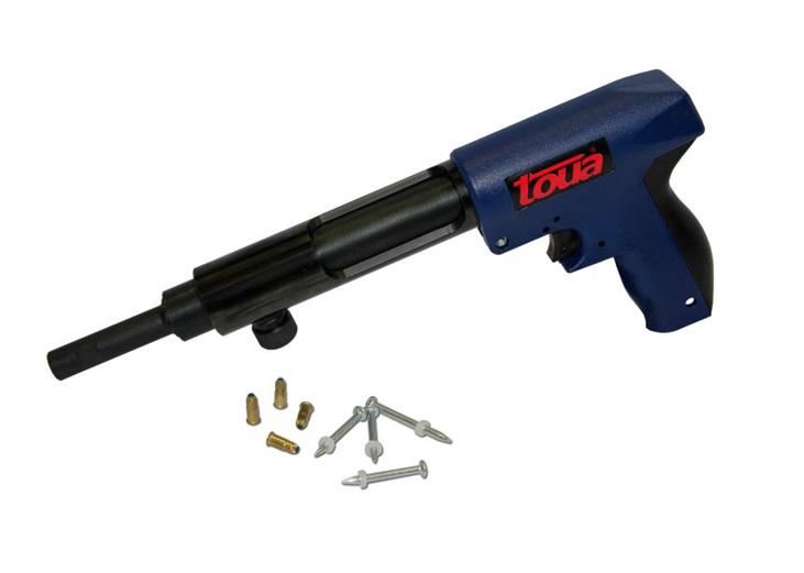 Строительный пистолет с набором дюбель-гвоздей