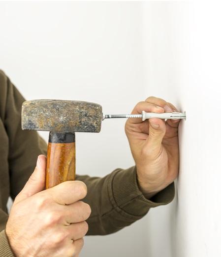 Установка крепежа в бетонное основание