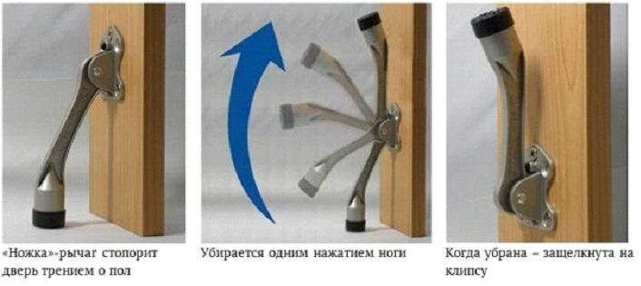 Дверной ограничитель с функцией фиксации