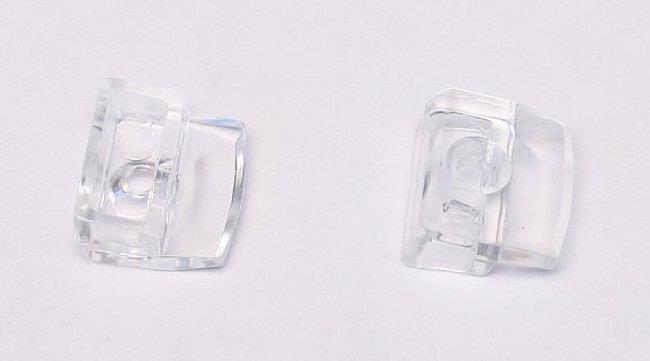 Пластиковые полкодержатели для стеклянных полок