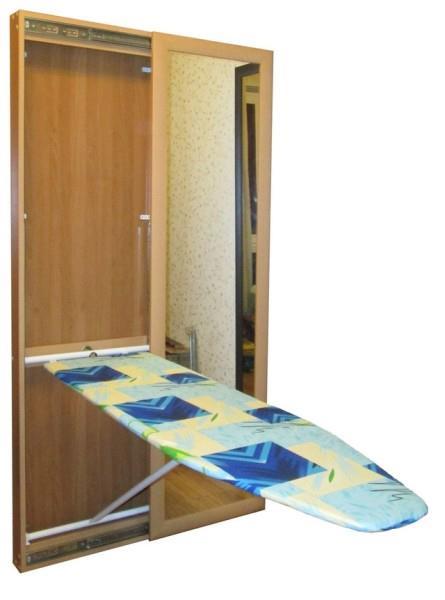 Расположение и фиксация встроенной гладильной доски