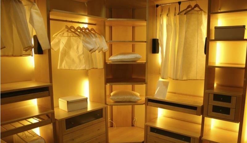 Подсветка мебельных шкафов светодиодной лентой