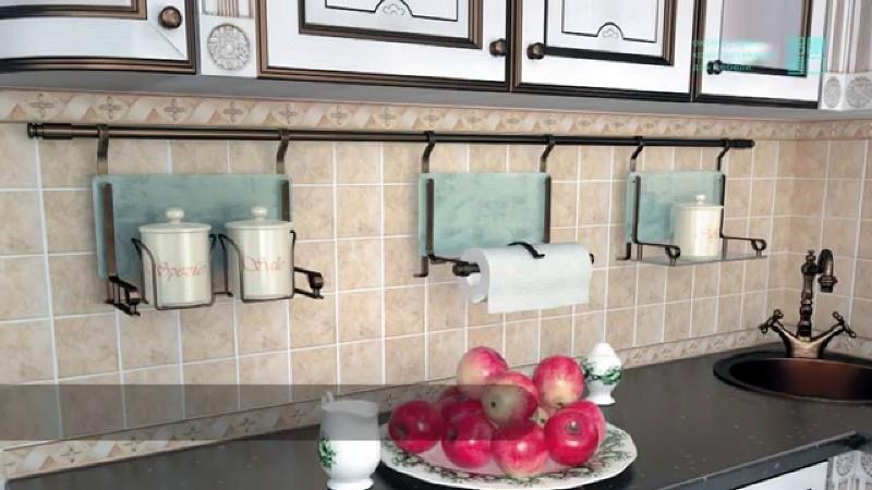 Общий дизайн с кухонными фасадами